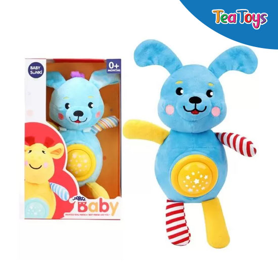 Плюшена музикална играчка Baby Sunki / заек