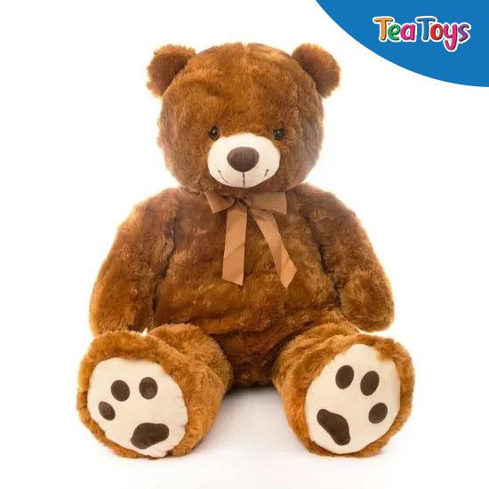 Плюшен мечок  с кафяви лапички