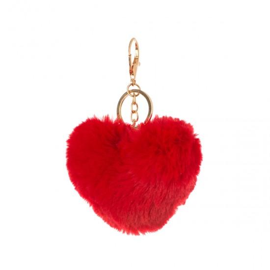 Ключодържател сърце в червено