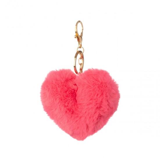 Ключодържател сърце в розово