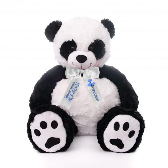 Плюшена панда гигант с надписана панделка