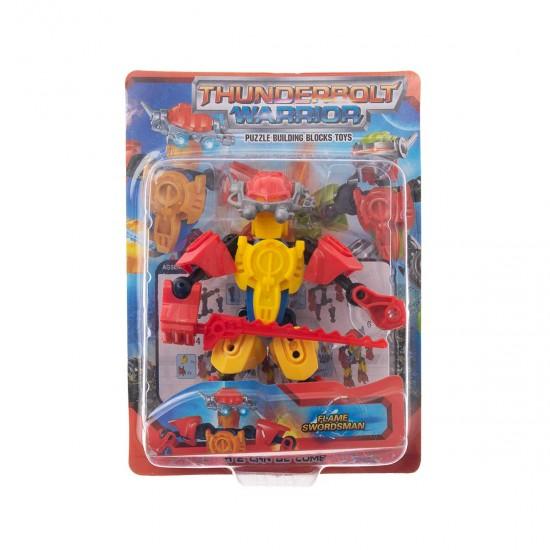 Конструктор-робот малък в червено