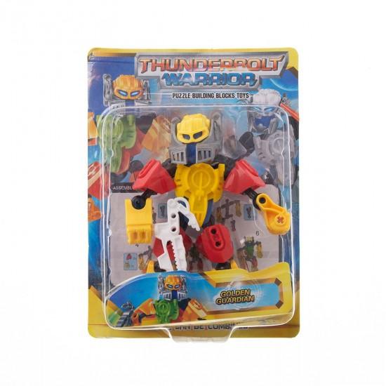 Конструктор-робот малък в жълто