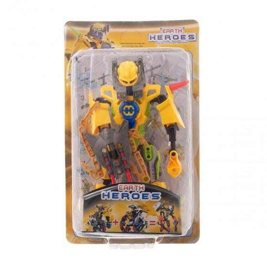 Конструктор-робот  в жълто