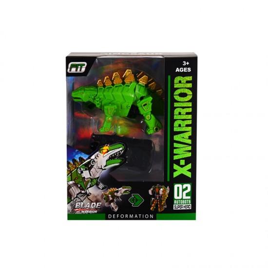 """Трансформер """"Динозавър"""" в зелено"""