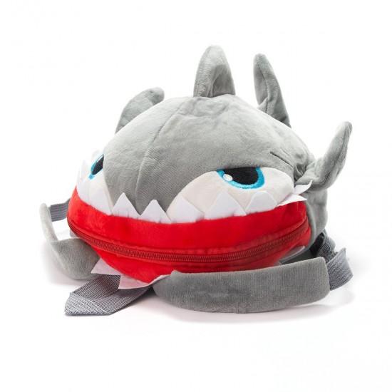 Плюшена 3D раница акула