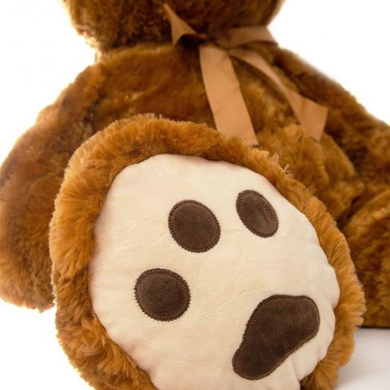 Плюшен мечок с кафява панделка