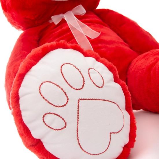 Плюшен мечок супер гигант в червено
