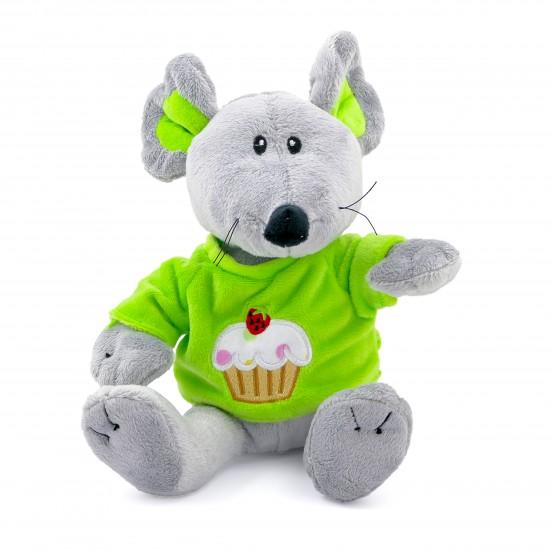 Плюшена мишка със зелена тениска