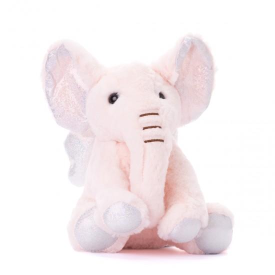 Плюшено слонче с ангелски криле в розово
