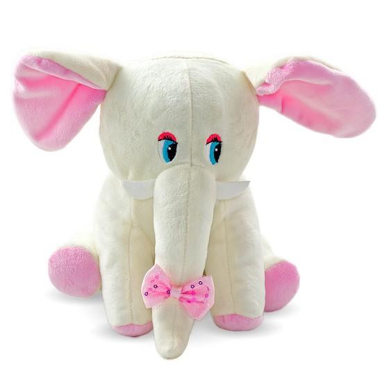 Плюшено слонче с панделка