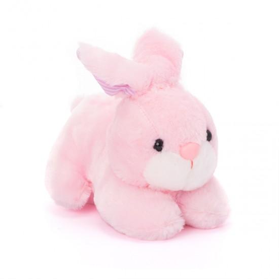 Плюшено зайче в розово