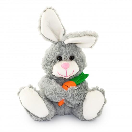 Плюшено зайче с морков Сива