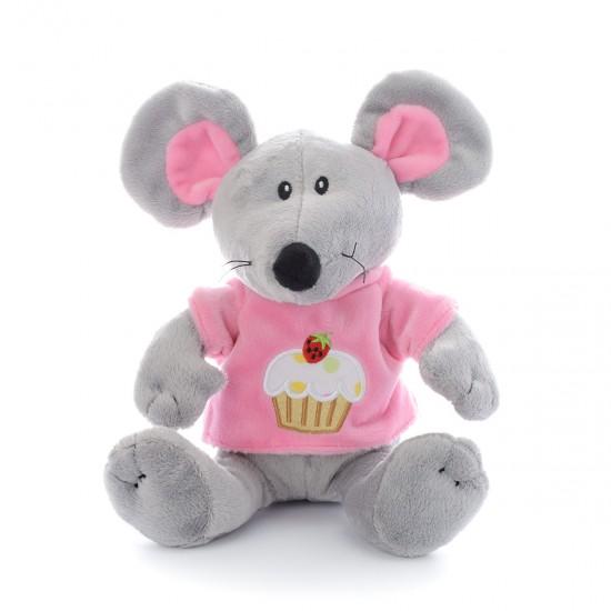Плюшена мишка с розова тениска