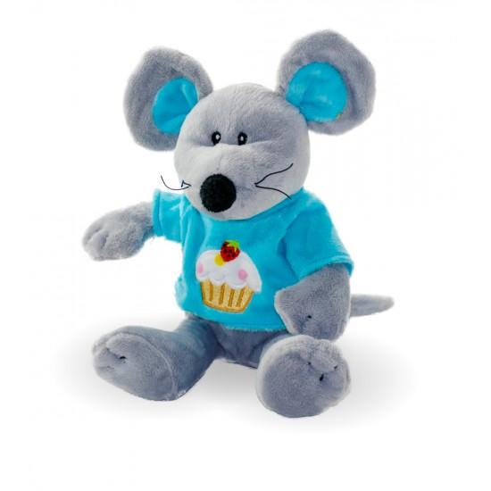 Плюшена мишка със синя тениска