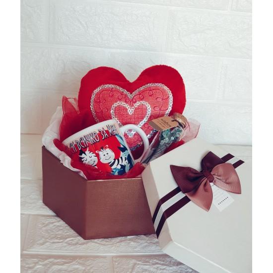 """Подаръчен комплект """"Влюбени зебри"""""""