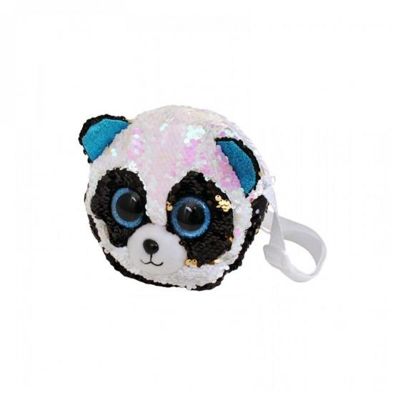 Плюшена чантичка панда с обръщащи се пайети