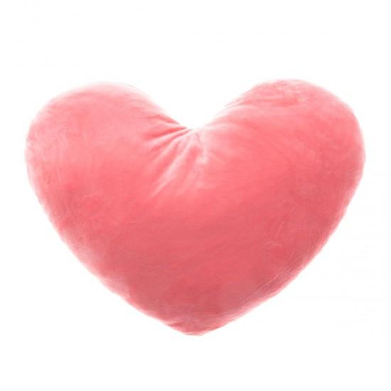 Плюшено сърце в розово