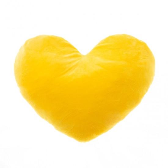 Плюшено сърце в жълто