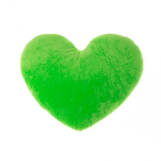 Плюшено сърце в зелено