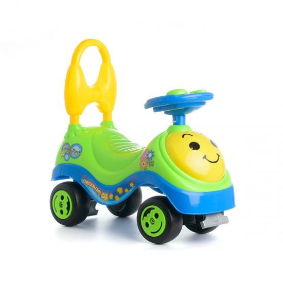 Детска кола за бутане Happy- зелена