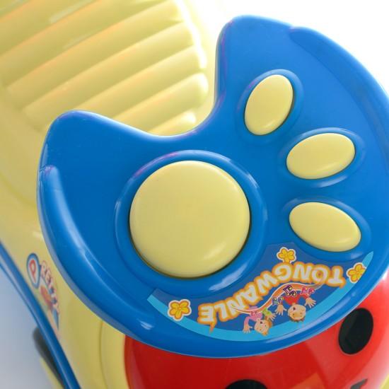 Детска кола за бутане Happy- жълта