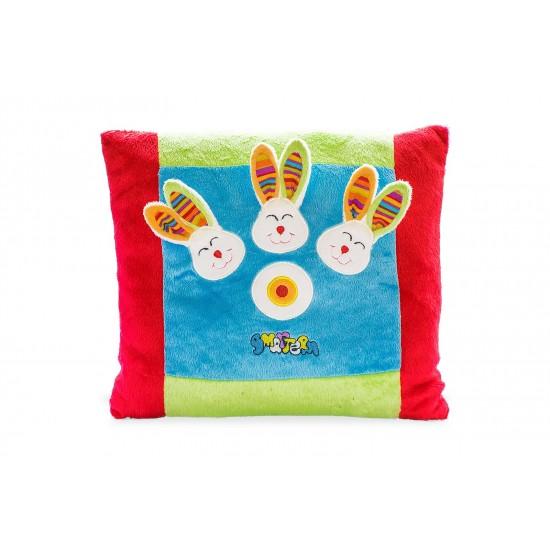 Плюшена възглавничка с три зайчета