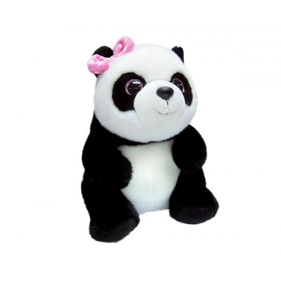 Плюшена Панда с розова панделка