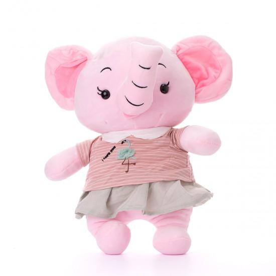Плюшено слонче с рокля на фламинго
