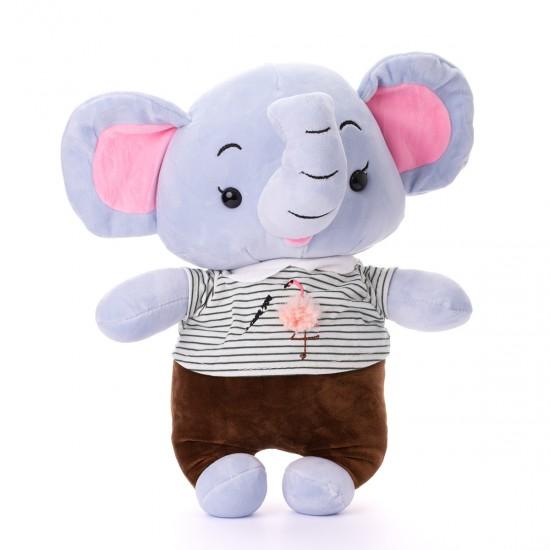 Плюшено слонче с тениска на фламинго