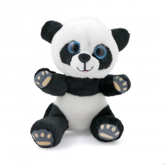 Плюшена пандичка със стъклени очи