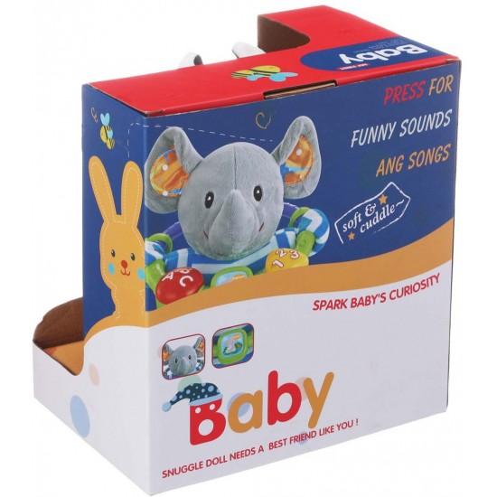 Плюшена музикална играчка Baby Sunki / крава