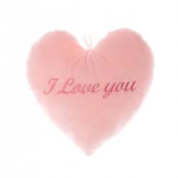 """ПЛЮШЕНО СЪРЦЕ """"I LOVE YOU"""" В РОЗОВО"""