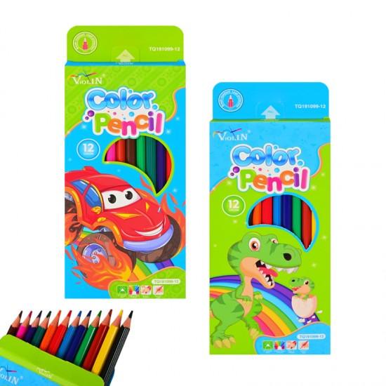 Цветни моливи 12 цвята /за момчета/