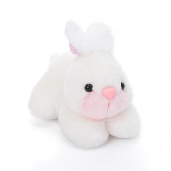 Плюшено зайче в бяло