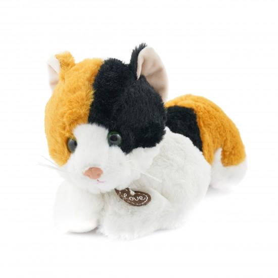 Плюшена котка с медальон Стела
