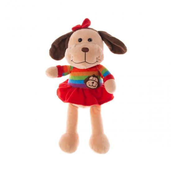 Плюшено куче с рокля Макси