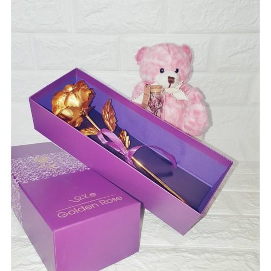 """Подаръчен комплект за 8 март """"Златна роза"""""""