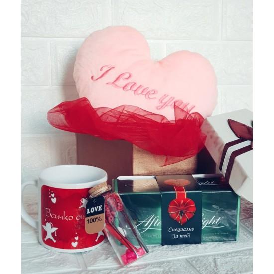 """Подаръчен комплект """"I love you"""""""