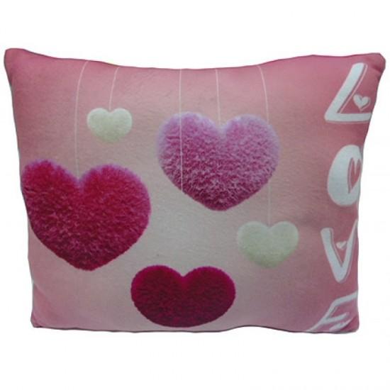 Възглавничка за влюбени розова LOVE