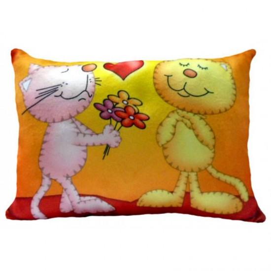 Възглавничка за влюбени с котки