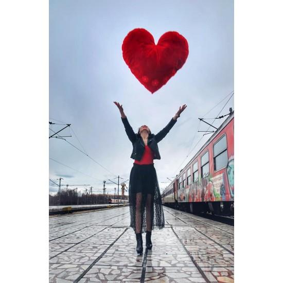 Плюшено сърце 100 см