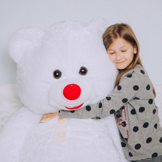 Плюшен мечок супер гигант в бяло