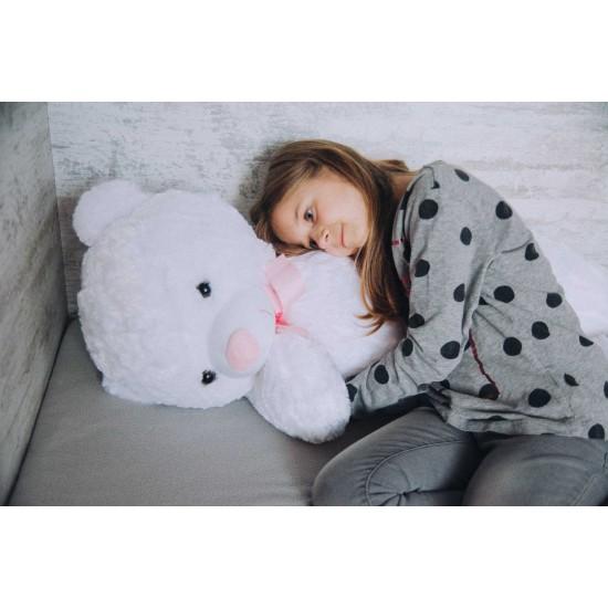 Плюшен мечок гигант с надписана розова панделка