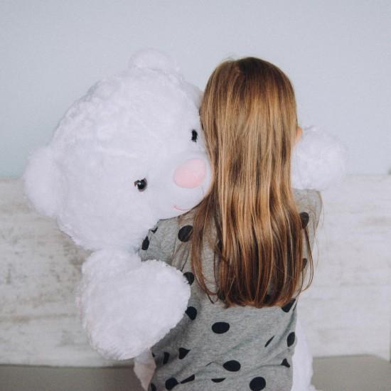 Плюшен мечок гигант с розова панделка