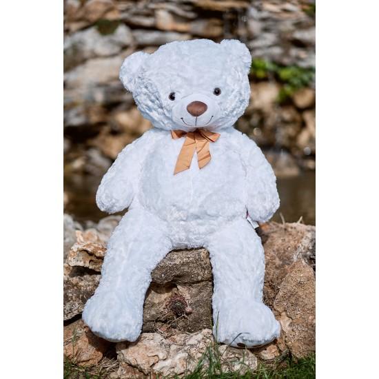Плюшен мечок гигант с кафява панделка
