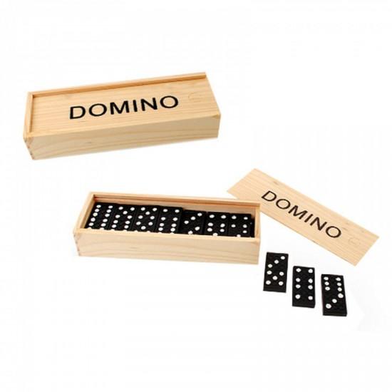 """Занимателна игра """"Домино"""" в дървена кутия"""