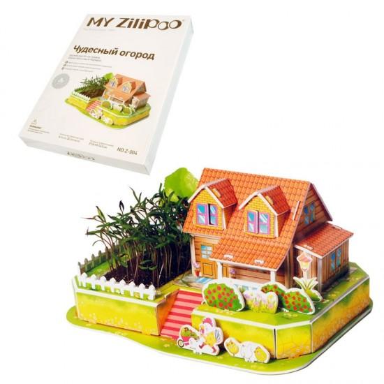 """3D пъзел """"Луксозна къща"""" с жива градина /32 елемента/"""