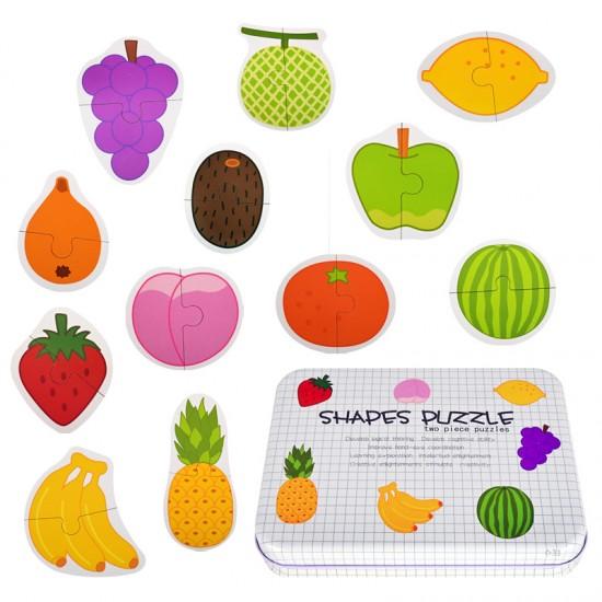 """Пъзел """"Плодове"""" с джъмбо елементи /дърво/"""