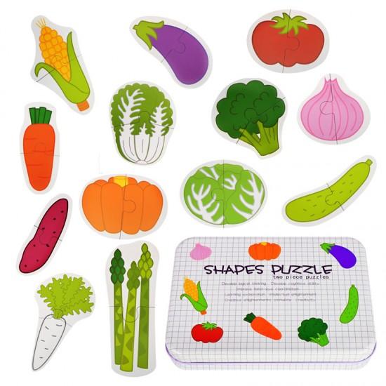 """Пъзел """"Зеленчуци"""" с джъмбо елементи /дърво/"""